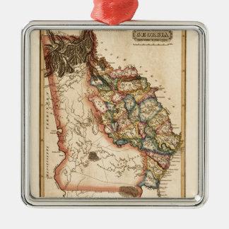 Ornement Carré Argenté La Géorgie 1817