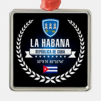 Ornement Carré Argenté La Havane