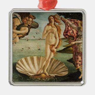 Ornement Carré Argenté La naissance de Vénus - Sandro Botticelli