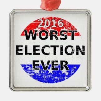 Ornement Carré Argenté La plus mauvaise élection jamais