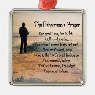 Ornement Carré Argenté La prière de Fishermans