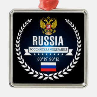 Ornement Carré Argenté La Russie