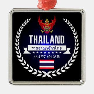 Ornement Carré Argenté La Thaïlande
