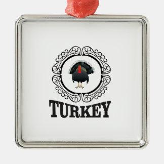 Ornement Carré Argenté La Turquie a encadré l'art