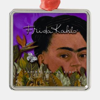 Ornement Carré Argenté La Vida de Frida Kahlo Pasion Por