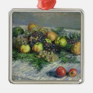 Ornement Carré Argenté La vie de Claude Monet | toujours avec des poires