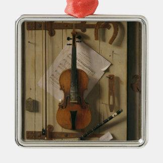 Ornement Carré Argenté La vie, violon et musique toujours