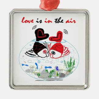 Ornement Carré Argenté L'amour est dans le ciel