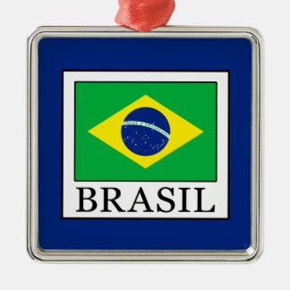 Ornement Carré Argenté Le Brésil