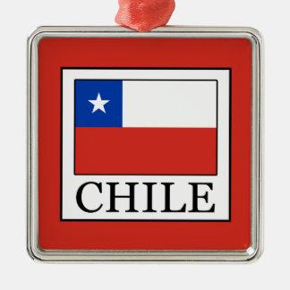 Ornement Carré Argenté Le Chili
