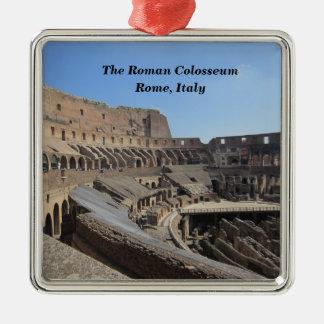 Ornement Carré Argenté Le Colosseum romain, Rome, Italie