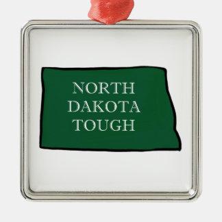 Ornement Carré Argenté Le Dakota du Nord dur