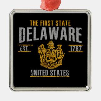 Ornement Carré Argenté Le Delaware