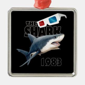 Ornement Carré Argenté Le film de requin