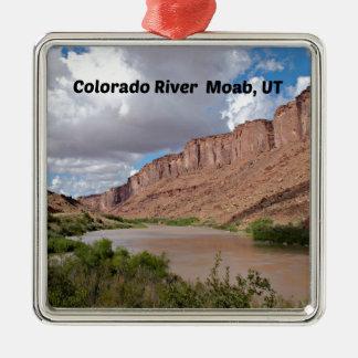 Ornement Carré Argenté Le fleuve Colorado, Moab, UT