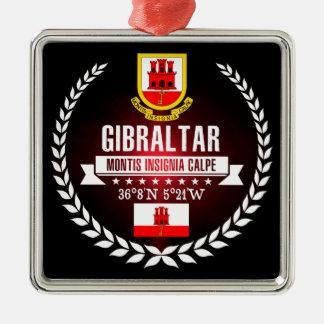 Ornement Carré Argenté Le Gibraltar
