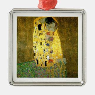 Ornement Carré Argenté Le ~ Gustav Klimt de baiser