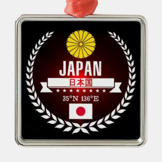 Ornement Carré Argenté Le Japon