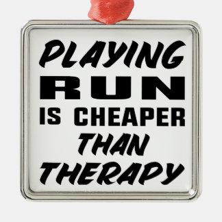 Ornement Carré Argenté Le jeu couru est meilleur marché que la thérapie