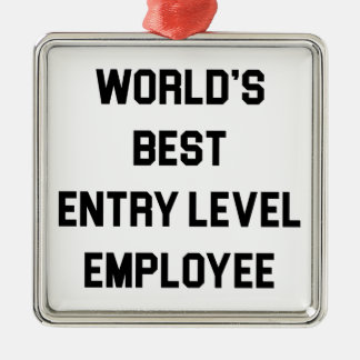 Ornement Carré Argenté Le meilleur employé de niveau d'entrée