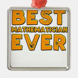 Ornement Carré Argenté Le meilleur mathématicien jamais