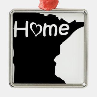 Ornement Carré Argenté le Minnesota