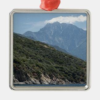 Ornement Carré Argenté le mont Athos