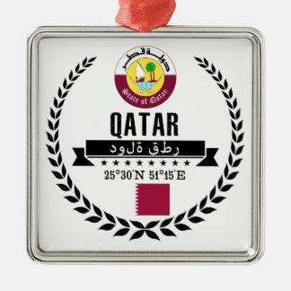Ornement Carré Argenté Le Qatar