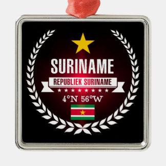 Ornement Carré Argenté Le Surinam