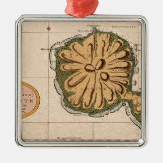 Ornement Carré Argenté Le Tahiti 1769