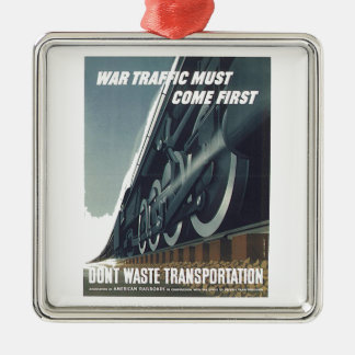 Ornement Carré Argenté Le trafic de guerre doit venir le premier WW-2