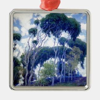Ornement Carré Argenté Le type s'est levé - eucalyptus de Laguna - chef