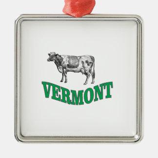 Ornement Carré Argenté le Vermont vert