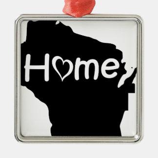 Ornement Carré Argenté Le Wisconsin