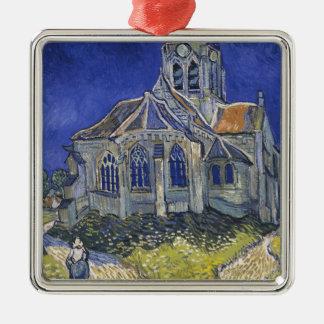 Ornement Carré Argenté L'église dans Auvers par Vincent van Gogh
