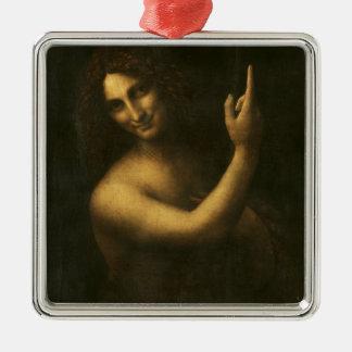 Ornement Carré Argenté Leonardo da Vinci - peinture de Jean-Baptist de