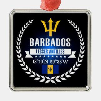 Ornement Carré Argenté Les Barbade