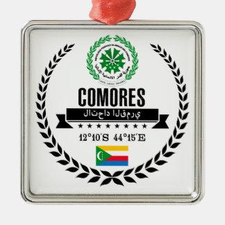 Ornement Carré Argenté Les Comores