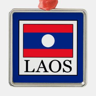 Ornement Carré Argenté Les Laotiens