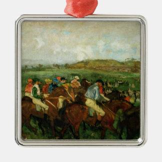 Ornement Carré Argenté Les messieurs d'Edgar Degas | emballent, avant le