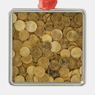 Ornement Carré Argenté L'euro invente le marché l'Europe de jaune