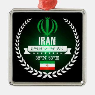 Ornement Carré Argenté L'Iran