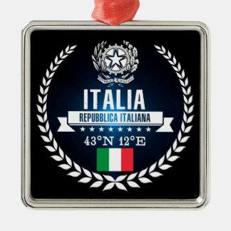 Ornement Carré Argenté L'Italie
