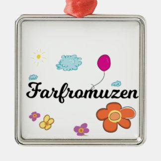 Ornement Carré Argenté Logo de FarFrom Usen