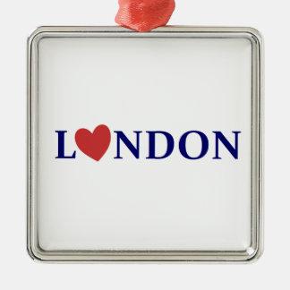 Ornement Carré Argenté London love
