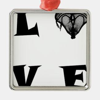 ORNEMENT CARRÉ ARGENTÉ LOVE29
