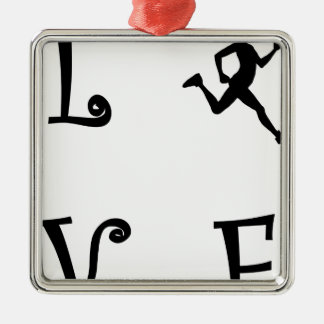 ORNEMENT CARRÉ ARGENTÉ LOVE44