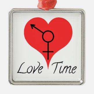 Ornement Carré Argenté love time
