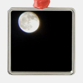 Ornement Carré Argenté lune