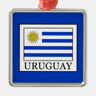 Ornement Carré Argenté L'Uruguay
